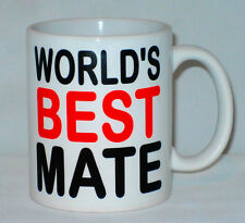 World's Best Mate Mug Can Be Personalised Workmate Sister Friend Bro Gift Worlds