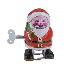 Jouet Mécaniques Ancien Père Noël Rouge Métal Collection Cadeau Enfant Jeu