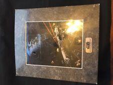 Vintage Lucas Star Wars Chromart Collector Print - Millennium Falcon 1993 COA