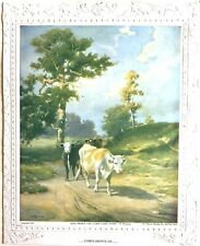 Early - 1901 - Cows on Pathway to Home - artist R. Atkinson Fox