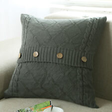 1X Fashion Knitting Button Throw Pillow Cases Cafe Sofa Cushion Cover Home Decor
