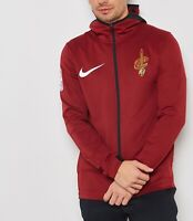 Nike Cleveland Cavaliers Therma Flex Showtime Full zip Hoodie Red 940120 577