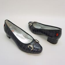 Marc Joseph New York Womens Madison Croco Embossed Pumps Navy EU 38 US 7.5 - 8