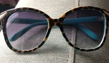 TIFFANY & CO.  TF409760  Sunglasses RARE BLUE FRAMES! With Leopard