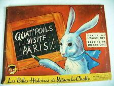 littérature enfant QUAT' POILS VISITE PARIS 1943