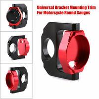Motorcycle Temperature Gauges Mount Round Meter Display Trim CNC Bracket Kit