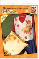 "Plaid SOFTransfer Iron-On Transfer 58110 ""Autumn Floral"" For Light Color Fabric"