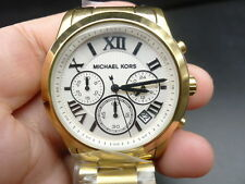 New Old Stock MICHEAL KORS Cooper MK5916 Chronograph GP Quartz Women Lady Watch
