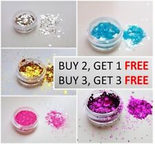 Cosmetic Glitter Pot for Face, Hair, Nails. In Chunky, Fine or mixed Flake sizes