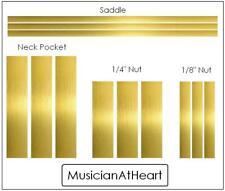 MusicianAtHeart MASTER SHIM SET in BRASS - Saddle, Nut, Neck - kit 4 guitar