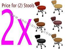 2 X Dayton Spa Pedicure Massage Chair Manicure Hair Nail Technician Tattoo Stool