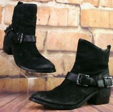 *Donald J. Pliner Wade Leather Ankle Boots Black $348 US Size 7.5 M
