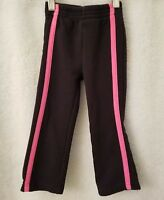 Nickelodeon Girls Black Pink Side Striped Elastic Waist Sweat Pants Size 3T