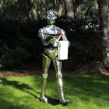 Life Size Silver Robot 6 Ft Tall Butler Statue with Tray C3PO Star Wars