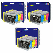 3 Sets of Compatible Printer Ink Cartridges for Brother MFC-240C [LC970]