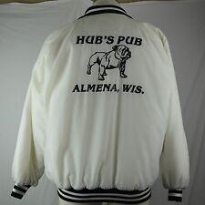 Vintage Jacket Coat - Hub's Pub - Almena, WI - Bar Grill - 1980's - USA Made