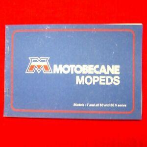 MANUAL – Owner's 7-50-50V Moped -- MOTOBECANE