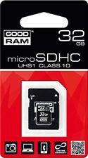 B0632048 32gb Scheda MicroSDHC GoodRam Classe 10 UHS I Adattatore M1aa-0320r1