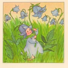 Scarce.! Spring Blue Bell Flower Fairy,Poem Ida Bohatta Blank Greeting Card