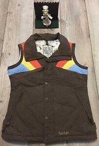 BURTON Womens Snowboarding Vest Ski Size S Small Brown Minimal Wear