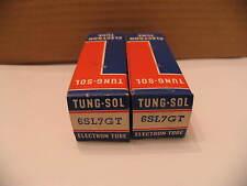 Pair NOS TungSol 6SL7GT Black Glass Tubes