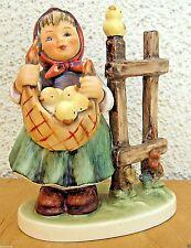 HUM #385 CHICKEN-LICKEN TM7 GOEBEL M.I. HUMMEL FIGURINE SIGNED GERMANY MINT
