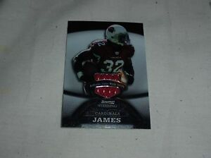 2008 BOWMAN STERLING GAME WORN JERSEY CARD EDGERRIN JAMES CARDINALS