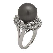 4f19e15e0e6f Anillos de joyería con perlas blancas de oro blanco diamante ...