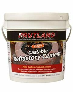 Rutland 12.5 lbs Tub Castable Cement - Mix With Water Fire Clay 2200 degree