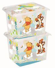 2 x Coffre à jouets Coffre À Jouets Boîte Fashion-Box Disney Winnie Ourson 20 L