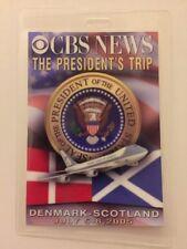 2005 President George W. Bush CBS News Press Pass Trip to Denmark & Scotland