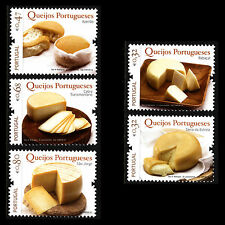 Portugal 2010 - Portuguese Cheeses Foot Gastronomy - Sc 3229/33 MNH