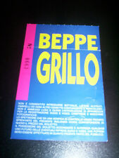 Beppe Grillo-ticket play