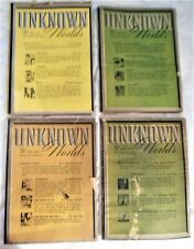 UNKNOWN Worlds - 4 Issues: Dec 1941,Apr, Jun, Aug 1942 RARE Hard-To-Find  $39.99