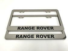 "(2) STAINLESS STEEL CHROME Polished Metal License Plate Frame - ""RangeRover"""