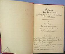 Notes manuscrites, catholique retraite 1900 / Handwritten notes catholic 1900