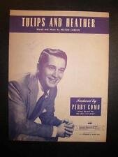 Tulips And Heather Sheet Music Vintage 1951 Perry Como Milton Carson Voice (O)