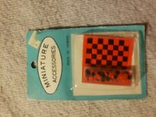 Checker Board Set dollhouse miniature IM65240  1/12 scale NIB vintage early 80's