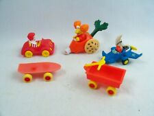 Vintage 80's McDonalds Happy Meal Toy Cars Ronald Fraggle Mac Tonight Wagon