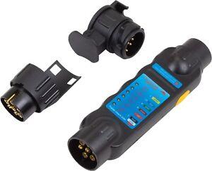 Electronic Towing Trailer Caravan Tester 7 & 13 Pin Tester Welzh Werkzeug 2762