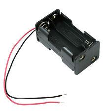 Aa X 4 Open sostenedor de batería Base Cuadrada Caja 15cm Cables 2 +2