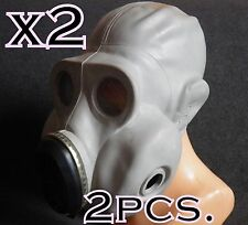 2pcs lot CCCP russian military paratrooper gas mask EO-19 PBF Grey rubber mask
