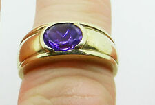 9 Carat Oval Yellow Gold Band Fine Gemstone Rings