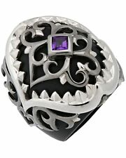 Stephen Webster Less Dents De La Mer amethyst Shark Jaw ring in sterling silver