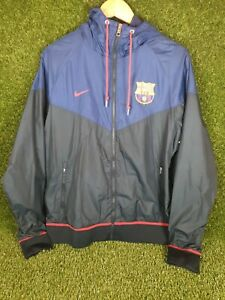 Nike FC Barcelona Barca Track Top Tracksuit Training Jacket Jersey Size Large