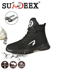 Mens Safety Mesh Shoes Toe Steel Indestructible Work Cap Boots Hiking Trainers