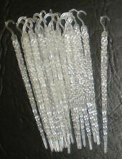 "20 VINTAGE Christmas GLOW IN THE DARK ICICLE ORNAMENTS - 5.5"" - GLOW GREEN"