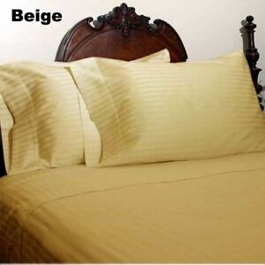 BEDDING ITEM CALIFORNIA KING SIZE 1000 TC EGYPTIAN COTTON ALL SOLID/STRIPE COLOR