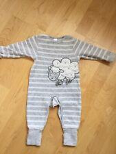 Kanz Nachtwäsche Schlafanzug Einteiler Nicky Grau//Weiß Baby Unisex Gr.56,68