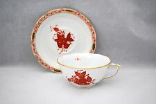 Herend CHINESE BOUQUET RUST (AOG) 734 Cup & Saucer Gold Trim